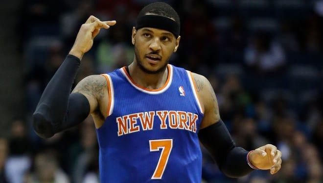 The Knicks' Carmelo Anthony.