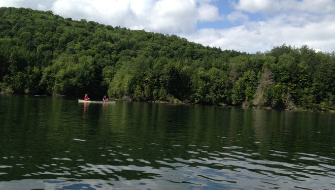 Waterbury Reservoir's many campsites include a number accessible only by boat or trail.