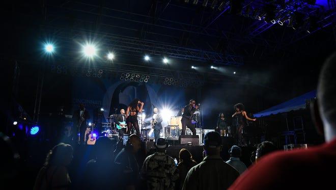 R&B singer KEM performs at the Cincinnati Music Festival Friday, July 28, 2017 at Paul Brown Stadium.