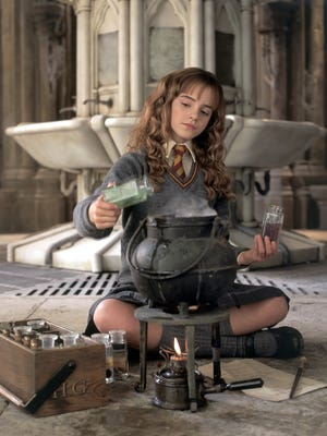 """Emma Watson in a scene from """"Harry Potter and the Chamber of Secrets."""""""