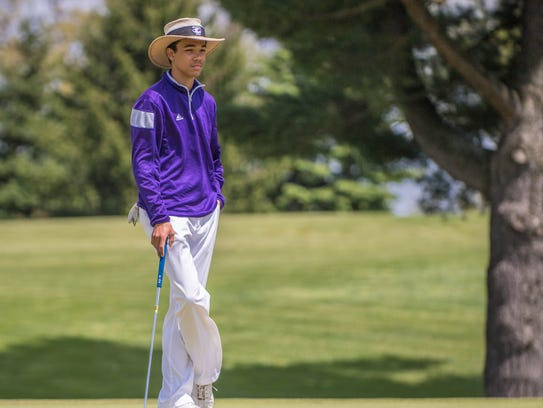 Lakeview's Andrew Walker during the 2016 All-City Golf
