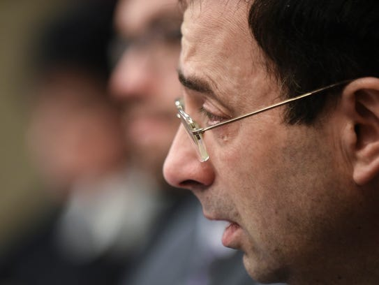 Larry Nassar was sentenced Wednesday to up to 175 years