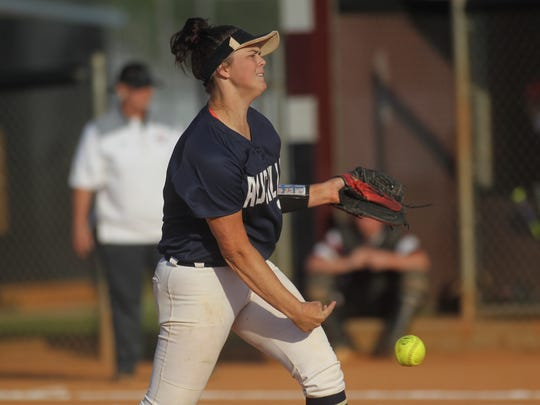 Aucilla Christian's Abigail Morgan pitches against Chiles.