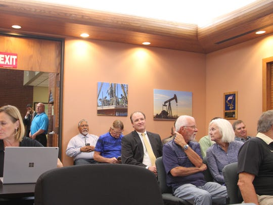 Eddy County residents attend a special meeting Tuesday,