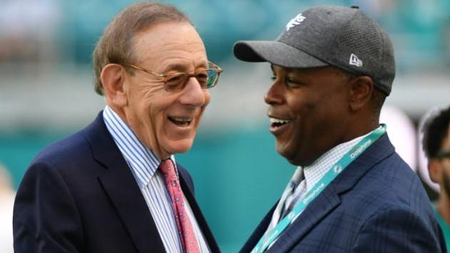 Dolphins owner Stephen Ross and general manager Chris Grier have 14 picks to work with at the 2020 NFL Draft.