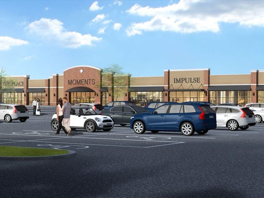 A rendering of The Shops at Ledgewood Commons.