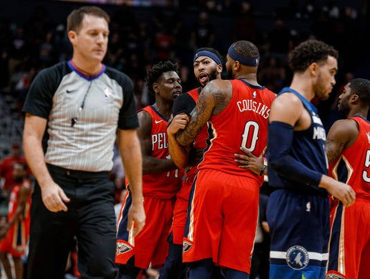 USP NBA: MINNESOTA TIMBERWOLVES AT NEW ORLEANS PEL S BKN NOP MIN USA LA