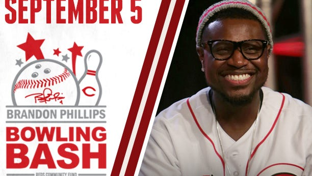 The Brandon Phillips Bowling Bash benefits the Reds Community Fund.
