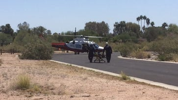 Phoenix firefighters rescued a hiker from Camelback Mountain on Tuesday.