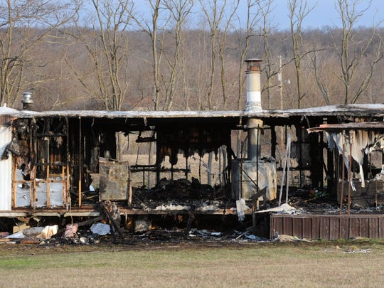 Fire destroyed the mobile home at 2915 Cattail Road early Monday morning.