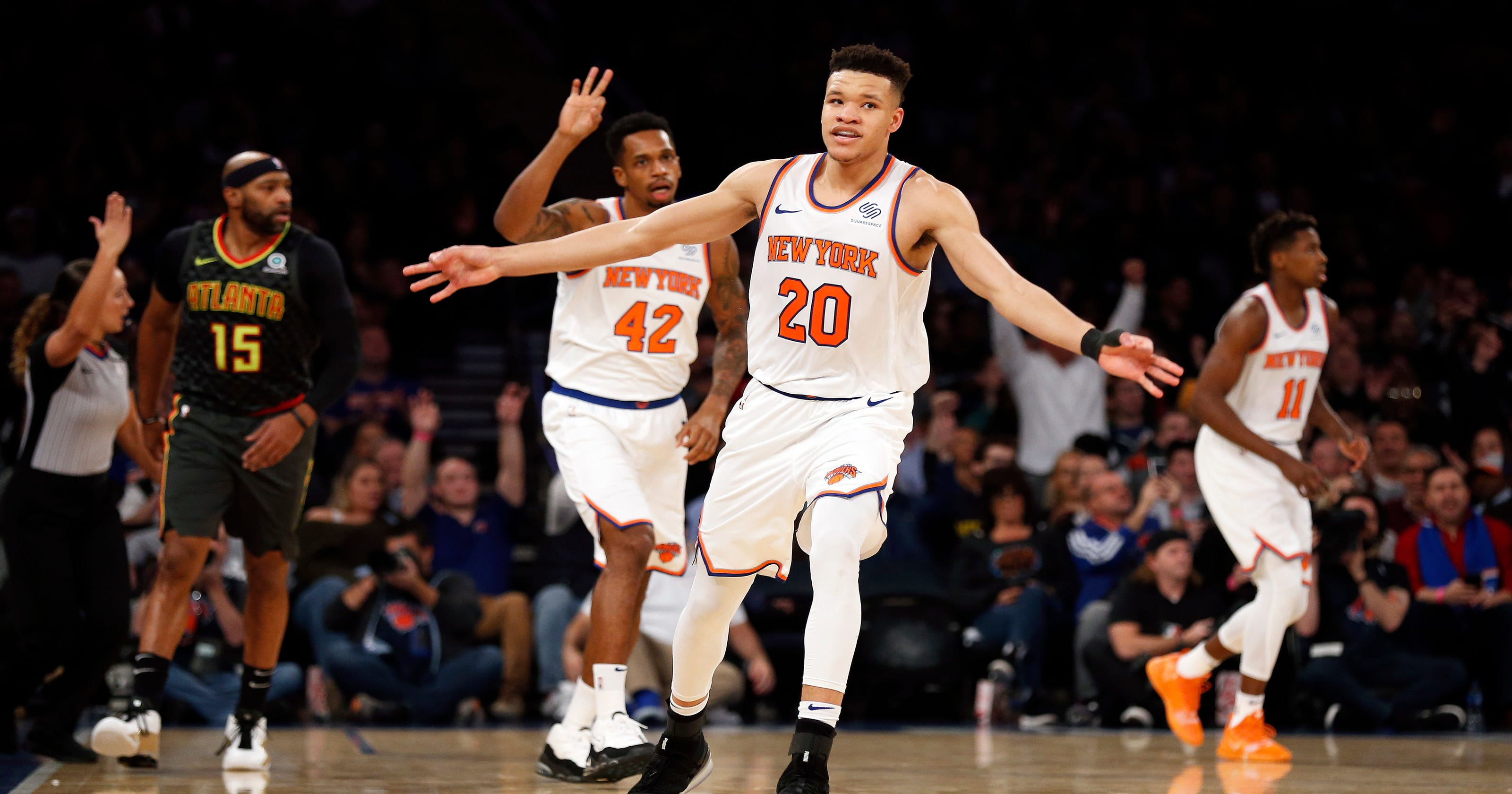 arrives 9b5c9 e5a7f In rookie Kevin Knox, Knicks see their Christmas future