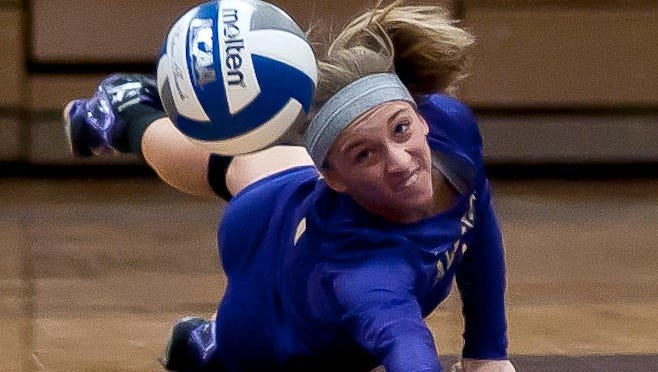 Junior libero Monica Shuk, a Farmington Mercy grad and Milford resident, recently set a career digs record at Albion College.