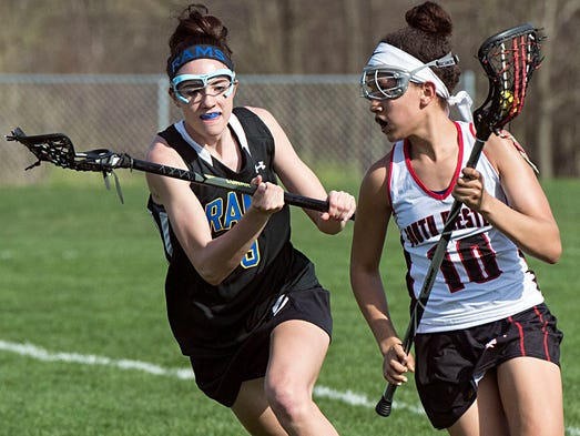 South Western's Caitlyn Coates takes the ball around