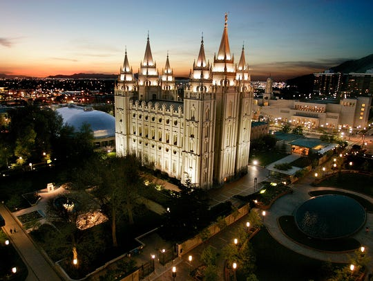 The Mormon Temple, centerpiece of Temple Square in