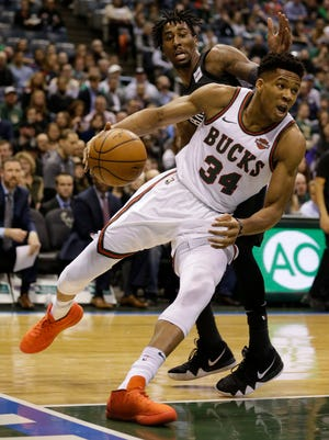 Giannis Antetokounmpo has his way with the Nets on Friday night at the BMO Harris Bradley Center.