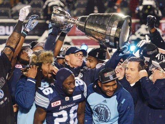 AP APTOPIX CFL GREY CUP FOOTBALL S CFL FBO CAN ON