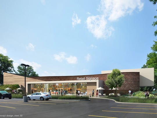 A new retail building replaces the once-planned, five-story condominium complex in the latest proposal for the Culver Road Armory.