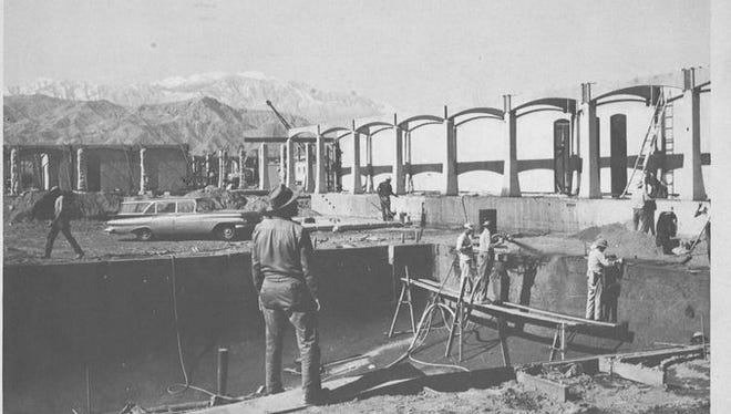College of the Desert under construction, January, 1962.