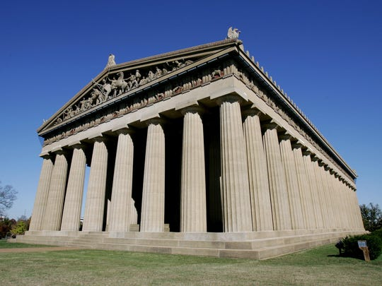 The Parthenon at Centennial Park in Nashville will light up for the Stand Up for Cancer event Friday.