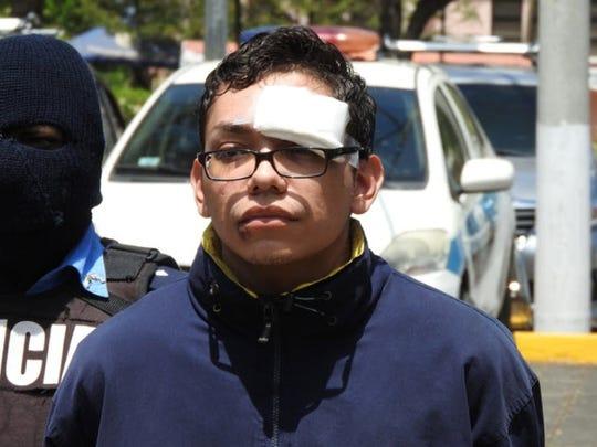 Orlando Tercero in the custody of Nicaragua National