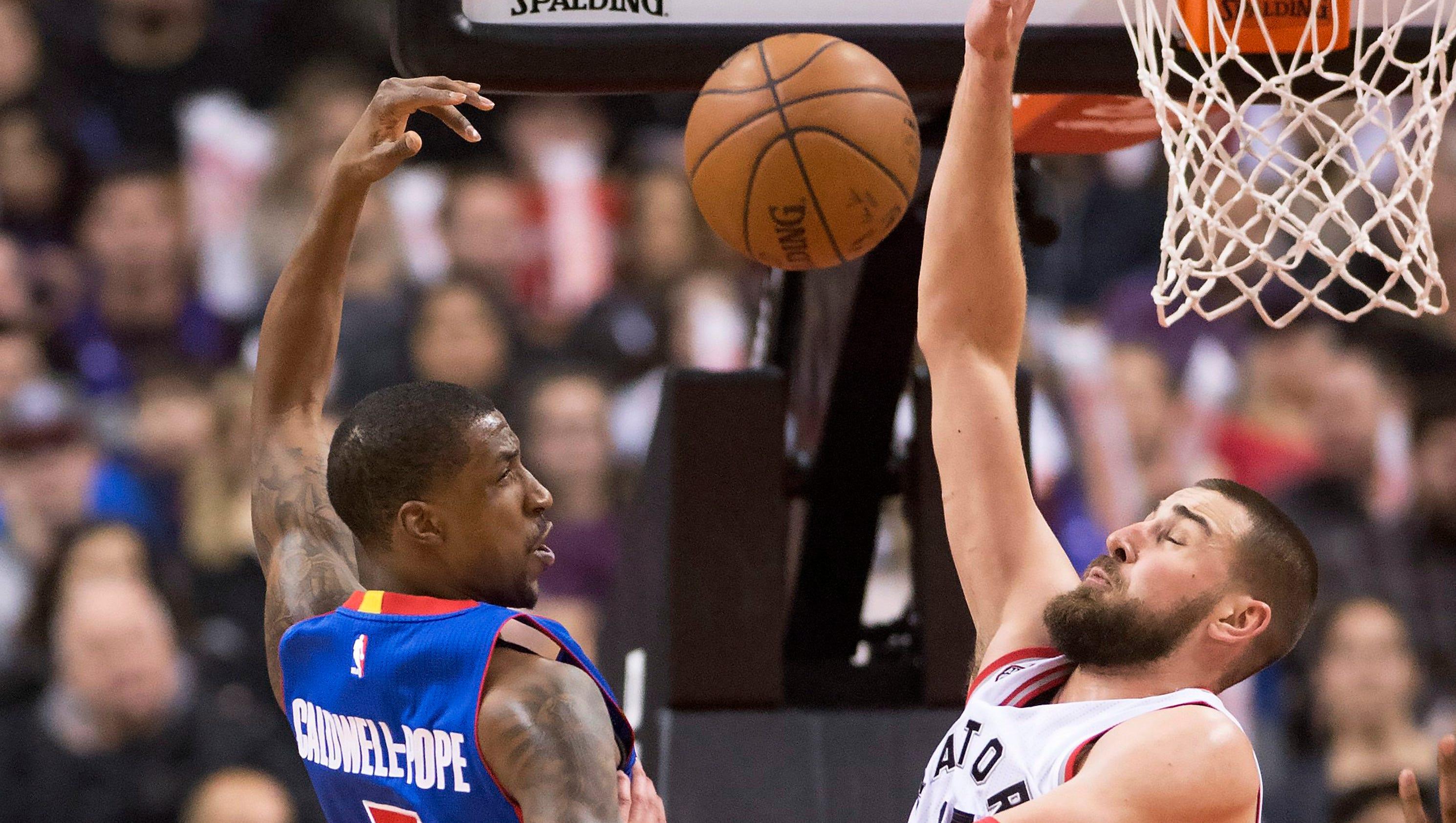 Raptors 111, Pistons 107