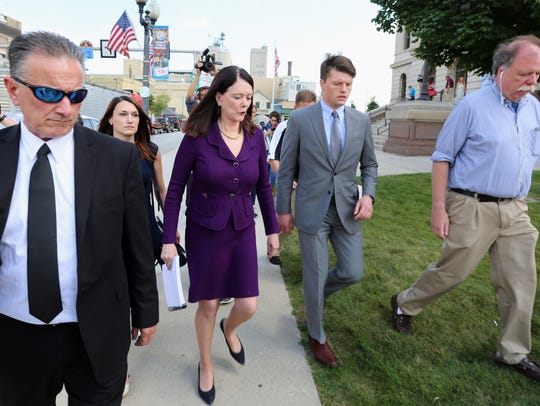 Kathleen Zellner, here making an August visit to the
