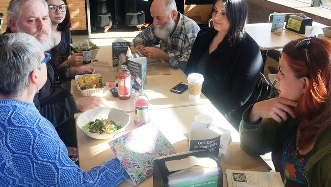 North Louisiana for Climate Justice, Shreveport's newest environmental group, meets at Whole Foods to discuss an upcoming protest of the Bayou Bridge pipeline.