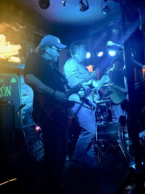 Ric Olsen (formerly of the band Berlin) and Matt Coen jam with their band, 3½ Men, at The Bunganut Pig in Franklin.