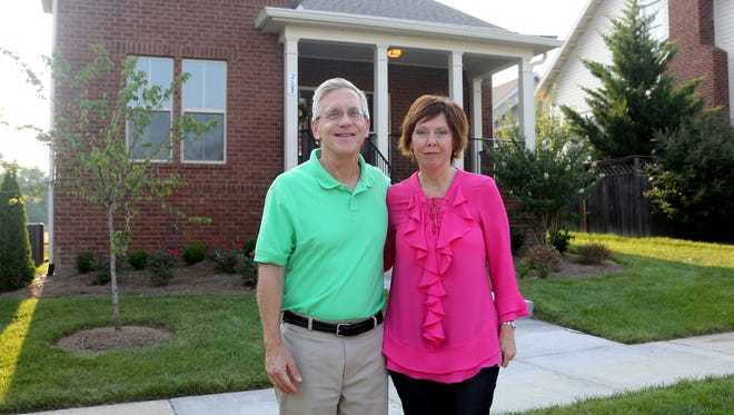 Grant and Vickie Clasby recently purchased a new one-story home in Regent's Carothers Farms subdivision in southeast Davidson County.