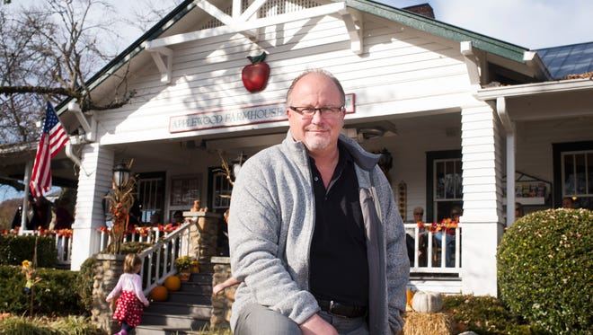 Stokely Healthy Food President William B. Stokely IV pauses outside the Applewood Farmhouse Restaurant on Tuesday, Nov. 22, 2016, in Sevierville.