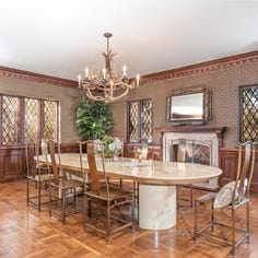 Dreamy Tudor home nestled in the woods is full of elaborate details
