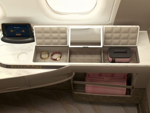Singapore Airlines new design for its Airbus A380 suites