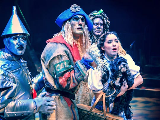 """Follow the yellow brick road to """"The Wizard of Oz."""" Dorothy, Toto, Scarecrow, Tin Man and the Cowardly Lion will take the stage at Hale Theatre."""