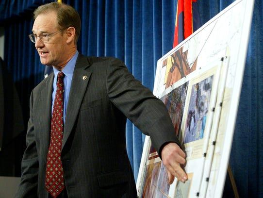 Arizona Attorney General Terry Goddard announces civil