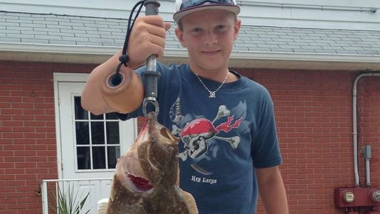 Mike Rocco, 13, of Union, caught this 7-pound, 24-inch fluke in Barnegat Bay.