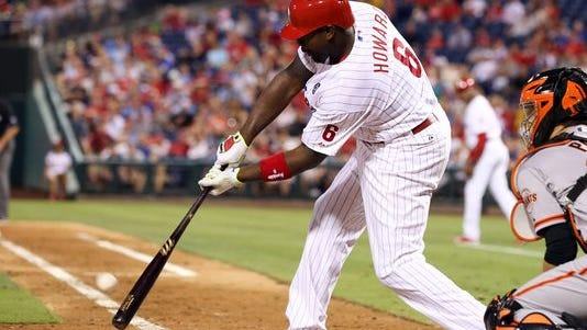 'I know what he can do,' Ryne Sandberg says of his struggling first baseman Ryan Howard. 'I think it's important to see what a guy like Darin Ruf can do also going forward.'