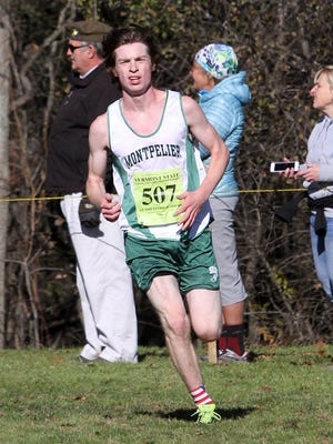 Matt Hynes of Montpelier was the winner of the Division II boys race at Saturday's Vermont high school cross-country running state championships at Thetford Academy.