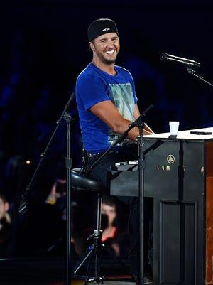 Luke Bryan performs at Vanderbilt Stadium on Saturday, July 11, 2015.