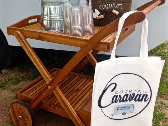 The Cocktail Caravan comes with all bar accessories