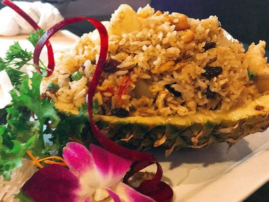 Pineapple fried rice at Mojo Thai & Sushi, which opened