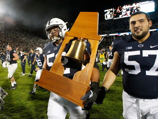 Penn State's rebuilding offensive line expects to take
