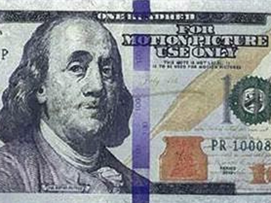 """For Motion Picture Use Only"" counterfeit $100 bill"