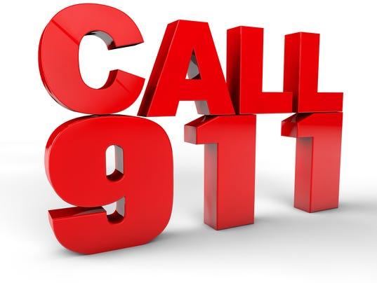 Call 911 emergency call 3d text