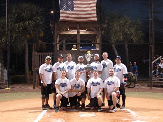 The City of Marco Island Adult Softball league, crowned a new champion, Islander Pool & Patio captured its first regular season crown with an overall record of 13-2. From left, back: Leonel Perez, Fermin Agular, Justin Zanella, Joey Irigoyen, Anthony Irigoyen, Mike Osmers and Efrain Gonzalez; front: Eddie Obrenski, Adam Capale, Corey Gariepy and  Jamie Bizud. Players not in picture: Jonathon Irigoyen, Rich Dahn and Selem Lake.