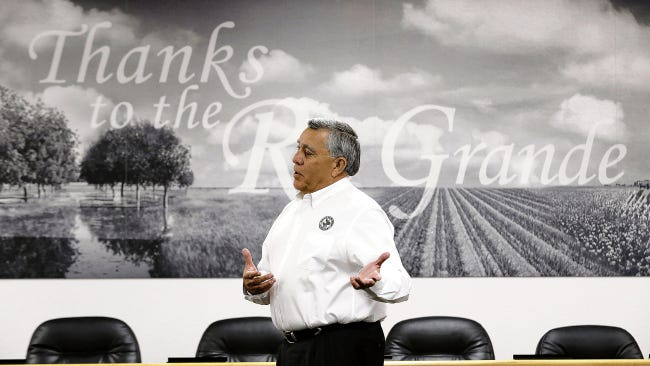 """Jesus """"Chuy"""" Reyes, general manager of the El Paso County Water Improvement District No. 1, talks about water from the Rio Grande."""