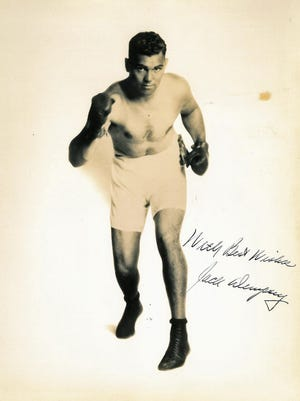 Jack Dempsey sent this autograph to Lou Gerber many decades ago.