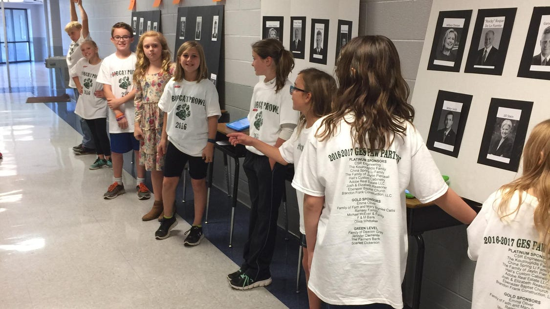Greenbrier Elementary holds mock election