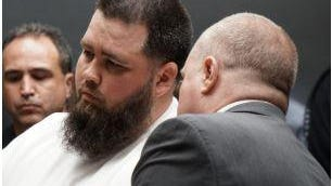 """Deric """"Tuna"""" McGuire in court in May 2018."""