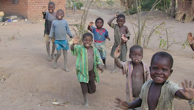 A photo provided by the Malawi Project of children in that southeast African country.