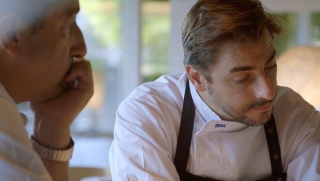 """A still of Jordi Roca of El Celler de Can Roca in Spain from the documentary """"Cooking Up a Tribute."""""""